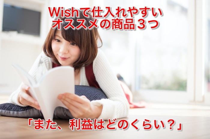 Wishで仕入れやすい転売におススメの商品3つ