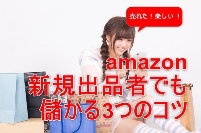 amazon新規出品者でも儲かる3つのコツ