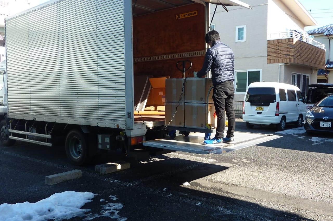 輸入した商品が成田空港に到着して、