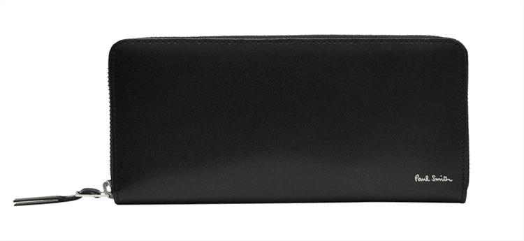 ラウンドファスナーのポールスミスの黒財布