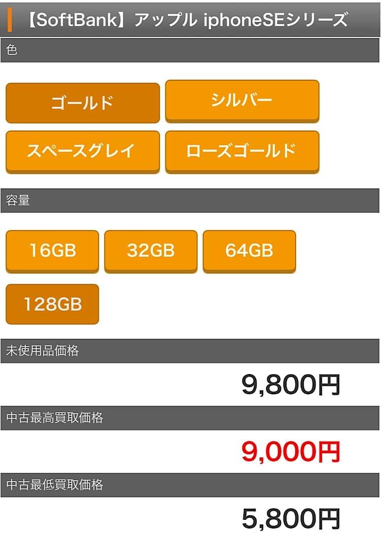 ゲオでのiPhone買い取り価格