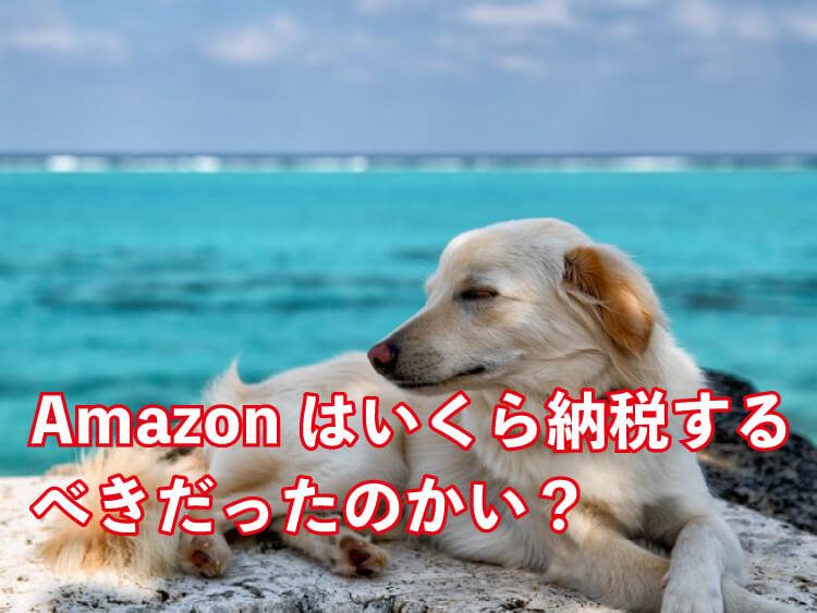Amazonは本来いくらの税金を納めるべきか?