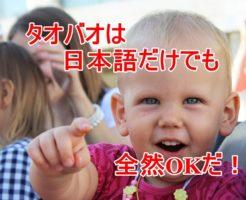 タオバオは日本語だけでも全然OKだ!