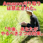 Amazon刈り取りはもうできない!アマゾン刈り取りの規制と対策について