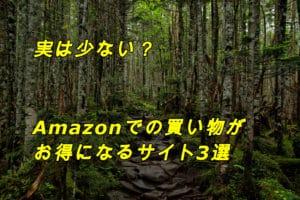 Amazonでの買い物がお得になるサイト3選