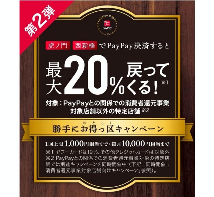 PayPay話題の最大20%還元キャンペーン