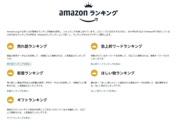 Amazonランキング一覧