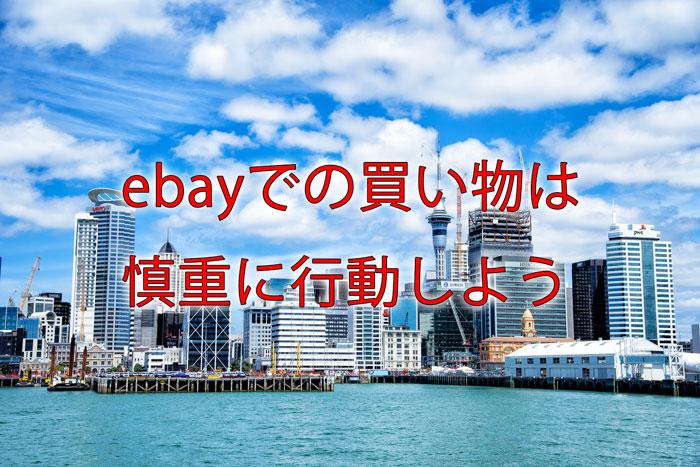 ebayでの買い物は慎重に行動しよう