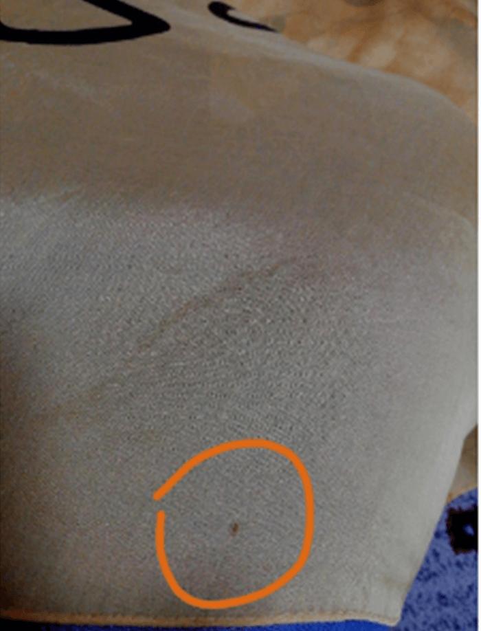 フリマアプリの写真はシミや汚れを撮る
