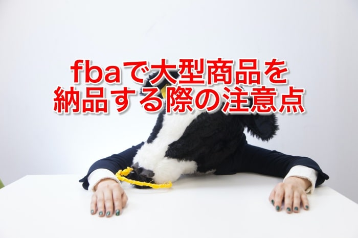 fbaで大型商品を納品する際の注意点