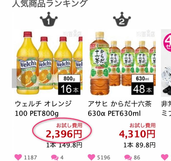 ちょっプルWelch'sオレンジジュース